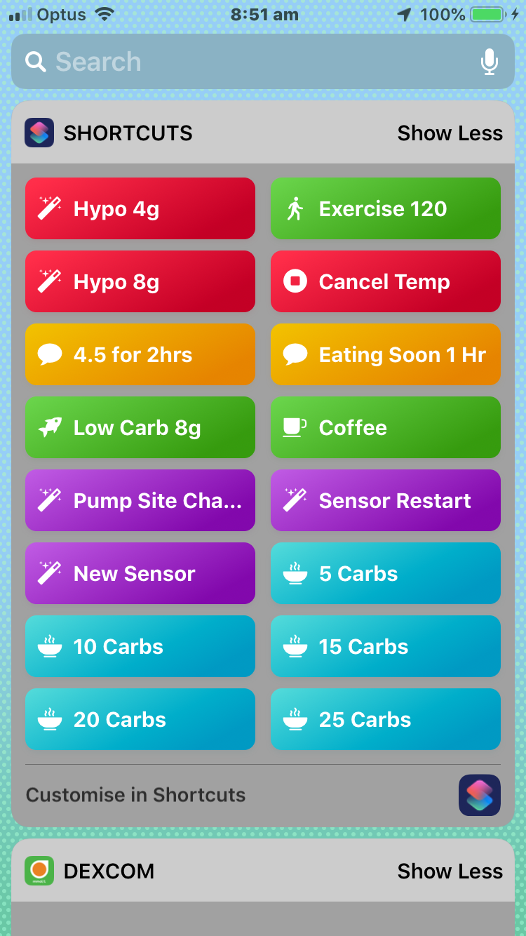 iPhone shortcuts for OpenAPS – My Artificial Pancreas
